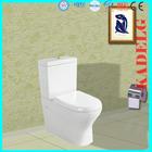 Ceramic bowl soft close toilet seat two piece toilet floor mounted european water closet