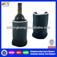 HBL004 Printed OEM PVC Beer bottle cooler gel bottle cool bag for outdoor on thin winter