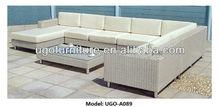 UGO furniture morden patio l shaped rattan sofa sets UGO-A089
