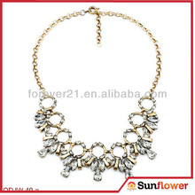 2014 Wholesale Chunky Crystal Decorative Necklaces ,Crystal Statement Necklace For Women
