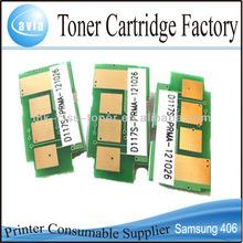 toner reset chip for samsung 406 laser chip for color CLP-360