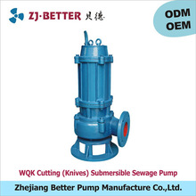 75kw WQK sewage and feces pump cutting submersible dirty water pump high pressure pump company