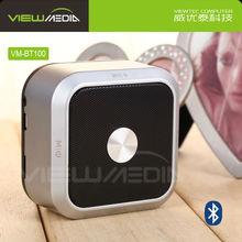 Hidden button with touch feeling wireless bluetooth speaker with FM radio VM-BT100