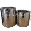 Barriles de pintura latas de pintura con el anillo de plástico, puede llanura de gran volumen de barriles( con un mango)