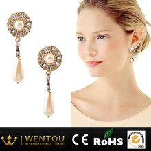 New Woman Shell Pearl Dangler Elegant Droplet Earrings Fashion Eardrop Wholesale
