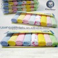 Wholesale Cheap US Gerter Brand eco-friendly face towel handkerchief 100% cotton terry baby/newborn washcloth