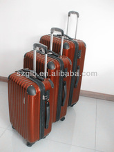3 piece cheap lightweight ABS/PC hard shell trolley upright luggage sets