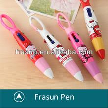 Fashion Custom Logo Fat 4 Corlor Clipper Pen,4 Corlor Carabineer Pen