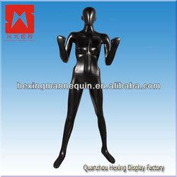2014 news egg head black female mannequin stand