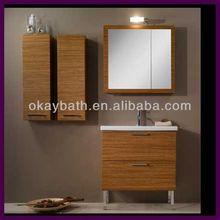 Aluminum legs melamine bedroom bathroom cabinet furniture OKBS-CA09
