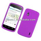 Purple Soft Silicone Case for LG NEXUS 4 E960