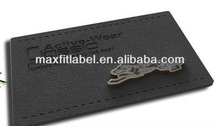 2014 directly factory custom metal mark garment leather label