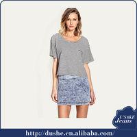 2014 fashion design denim skirt sexy girls in short skirts