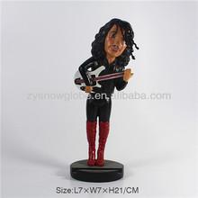 Resin singer action figure