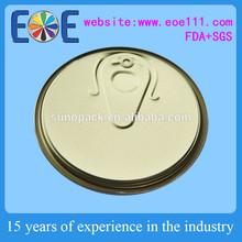 United Arab Emirates 401 aluminum partial easy open can door / export half easy open lid factory