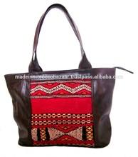 Stylish Moroccan Handmade Leather and Kilim handbag