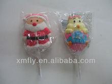 Individual gifted christmas santa shaped marshmallow candy