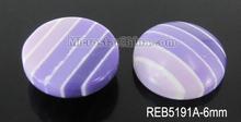 12mm Flat round resin stripe earring stud cabochon