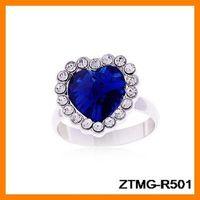 Fashion Crystal Heart Ring