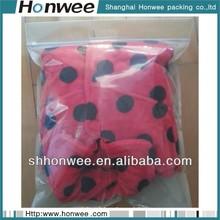 high quality promotional plastic clear zipper pvc cloth bag