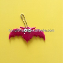 Heart shaped reflective pvc keychain for promotion