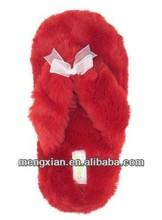 Faux Fur cheap alpaca lady thong lamb lined Indoor Slipper thong