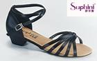 Plastic heel Girl latin dance shoes 2014
