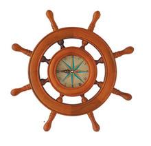 nautical wooden ship wheel clock,antique ship wheel wall clock