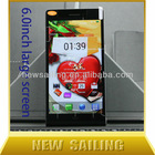 MTK6582 quad core smartphone dual SIM 4 SIM card mobile phone with large 3000mAh battery opti