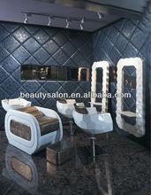 2014 newest salon furniture set model ZY-2014B (shampoo chair+styling chair+mirror station)
