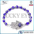 brazalete de perlas joyería hecha a mano griega turca evil eye hamsa 2014
