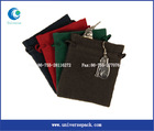 Various colour suede string bag