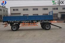 Heavy duty load 10t cheap double axles dumping farm semi trailer