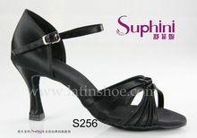 Noir avec boucle cheville latine chaussures de danse latine et salle de bal robes pour adultes