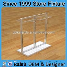 Tela estante de exhibición/ropa colgando estante de exhibición/de madera al por menor de ropa estante de exhibición