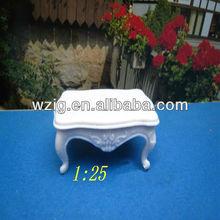 white ABS plastic tea table scale models, coffee table models,miniature table architectural model kits