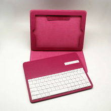 Wireless arabic pu leather case with bluetooth keyboard for ipad 2 with PU Leather Case