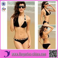 Fashion Sexy Cheap Black Bikini Beachwear