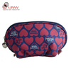 hard case cosmetic bag & make-up bag,300d cosmetic bag,black and white cosmetic bag