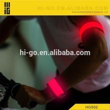 The best quality sport armband LED light safety slap bracelet sport armband