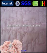 30D PU coating high quality beautiful quilt fabric for padding coat