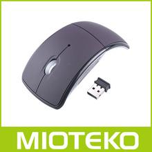 Hot et pas cher 2.4 Ghz air fly souris pliable Arc Mouse air Mouse Snap - in émetteur - récepteur pour pc portable pc
