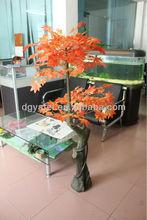 เทียมที่มีสีสันเมเปิ้ลต้นไม้/กลางต้นไม้ปลอมสำหรับการตกแต่ง