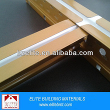 Gypsum drywall ceiling t bar types / metal ceiling support grid / tee bar as building material
