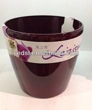 2015 New colouful round solar planter pot