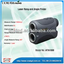 6*24 1000m laser angle and range finder with city optics monocular
