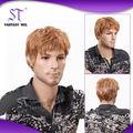 años 10 bella maniquí de rubia peluca de pelo natural para los hombres