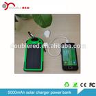 Solar Battery Chargers 5000mAh Portable USB Solar Energy Panel Power Bank / inverter charger solar panel