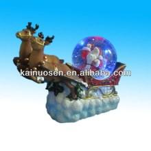 hot sale polyresin christmas snow globe kit with deer