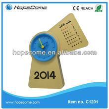 (C1201) desktop flip calendar clock day date calendar clock